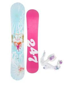 24/7 Fawn Snowboard w/ K2 Kat Bindings