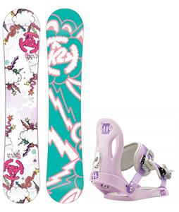 K2 Lil Kandi Snowboard w/ Morrow Slider Bindings