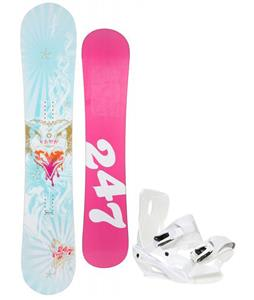 24/7 Fawn Snowboard w/ Sapient Zeta Bindings