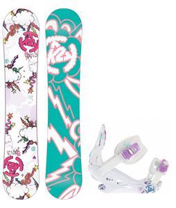 K2 Lil Kandi Snowboard w/ K2 Kat Bindings