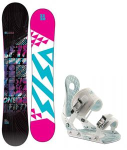 5150 Sienna Snowboard w/ Ride LXH Bindings