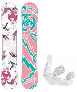 K2 Lil Kandi Snowboard w/ Burton Lexa Bindings