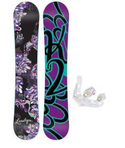 K2 Lunatique Snowboard w/ Burton Lexa Bindings
