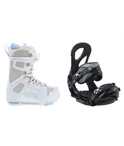 M3 White Snowboard Boots w/ Burton Stiletto EST Bindings
