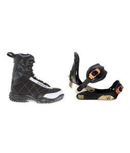 Morrow Invasion Snowboard Bindings w/ M3 Militia Jr Snowboard Boots