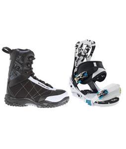 Burton Mission Smalls Snowboard Bindings w/ M3 Militia Jr Snowboard Boots