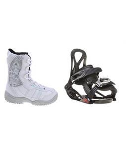 Sapient Prodigy Snowboard Bindings w/ M3 Venus Jr Snowboard Boots