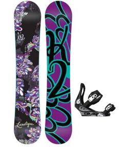 K2 Lunatique Snowboard w/ Burton Citizen Bindings