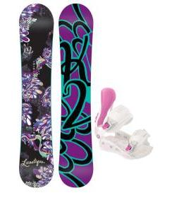 K2 Lunatique Snowboard w/ Avalanche Serenity Bindings