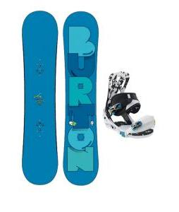 Burton Super Hero Smalls Snowboard w/ Burton Mission Smalls Bindings