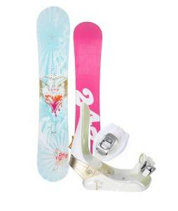 24/7 Fawn Snowboard w/ Morrow Lotus Bindings