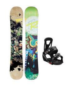 Rossignol Angus Amptek Snowboard with Burton Freestyle Snowboard Bindings