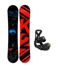 K2 Brigade Wide Snowboard with Burton Custom Snowboard Bindings
