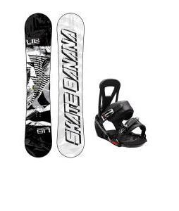 Lib Tech Skate Banana Wide Snowboard w/ Burton Freestyle Bindings