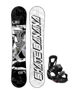 Lib Tech Skate Banana Snowboard w/ Burton Freestyle Bindings