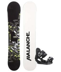 Avalanche Source Snowboard with Avalanche Summit Snowboard Bindings