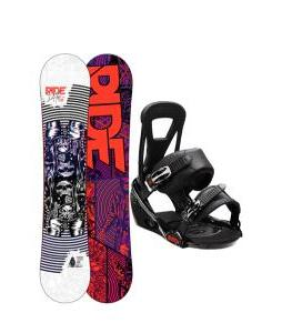 Ride DH2 Wide Snowboard w/ Burton Freestyle Bindings