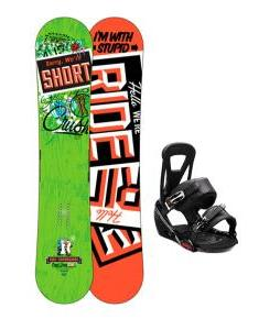 Ride Crush Snowboard w/ Burton Freestyle Bindings