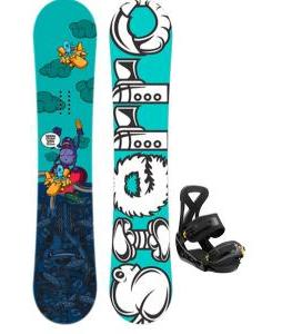 Sierra Stunt Wide Snowboard w/ Burton Custom Bindings