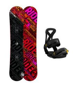 Ride Kink Wide Snowboard w/ Burton Custom Bindings