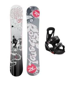Rossignol District Amptek Snowboard w/ Burton Freestyle Bindings