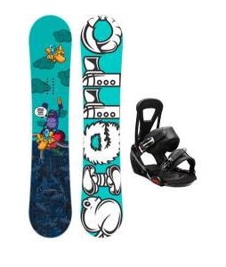 Sierra Stunt Wide Snowboard w/ Burton Freestyle Bindings