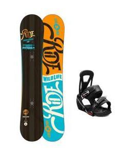Ride Wild Life Snowboard w/ Burton Freestyle Bindings