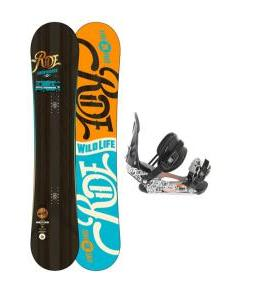 Ride Wild Life Snowboard with Ride LX Snowboard Bindings