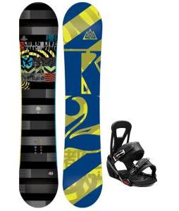 K2 Lifelike Snowboard w/ Burton Freestyle Bindings