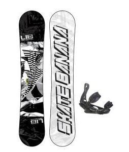 Lib Tech Skate Banana Wide Snowboard w/ Burton P1.1 Bindings