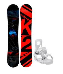 K2 Brigade Wide Snowboard w/ Burton Freestyle Bindings