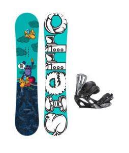Sierra Stunt Wide Snowboard w/ Rossignol Cage Bindings