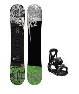 K2 WWW Rocker Wide Snowboard w/ Burton Freestyle Bindings