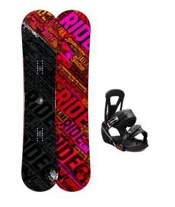 Ride Kink Wide Snowboard w/ Burton Freestyle Bindings