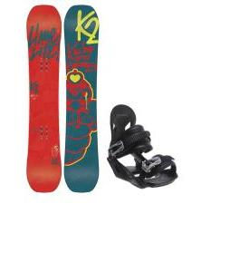 K2 Lime Lite Snowboard with Avalanche Summit Bindings