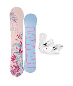 Lamar Merlot Snowboard with Sapient Zeta Bindings