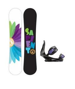 Sapient Color Wheel Snowboard with Burton Citizen Re:Flex Bindings
