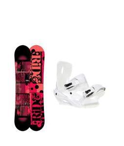 Ride Compact Snowboard with Sapient Zeta Bindings