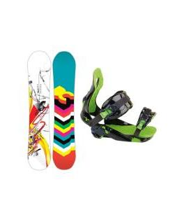 DC Ply Snowboard with Rossignol Justice Bindings