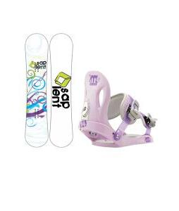 Sapient Spiral Snowboard with Morrow Slider Bindings