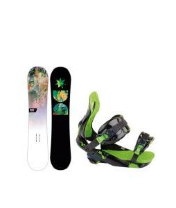 DC Biddy Snowboard with Rossignol Justice Bindings