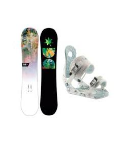 DC Biddy Snowboard with Ride LXH Bindings