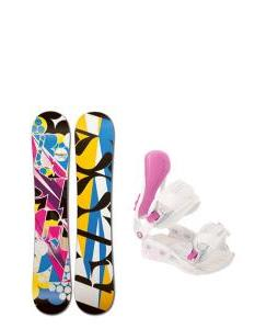 Rossignol Justice Amptek Snowboard with Avalanche Serenity Bindings