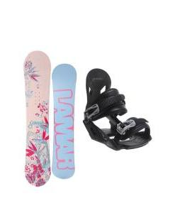 Lamar Merlot Snowboard with Avalanche Summit Bindings