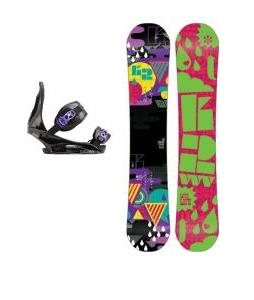 K2 Vavavoom Rocker Snowboard with Burton Citizen Re:Flex Bindings