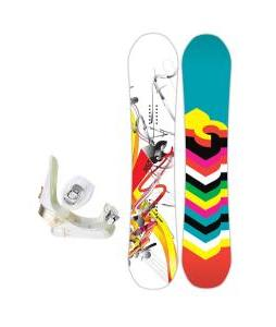DC Ply Snowboard with Morrow Lotus Bindings