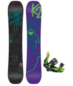 K2 Lime Lite Snowboard with Rossignol Justice Bindings