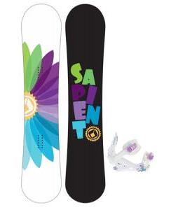 Sapient Color Wheel Snowboard with K2 Kat Bindings