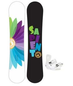 Sapient Color Wheel Snowboard with Sapient Zeta Bindings
