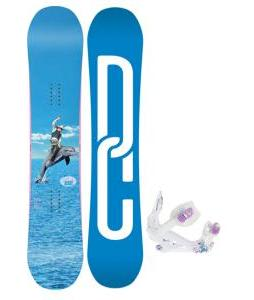 DC Biddy Snowboard with K2 Kat Bindings